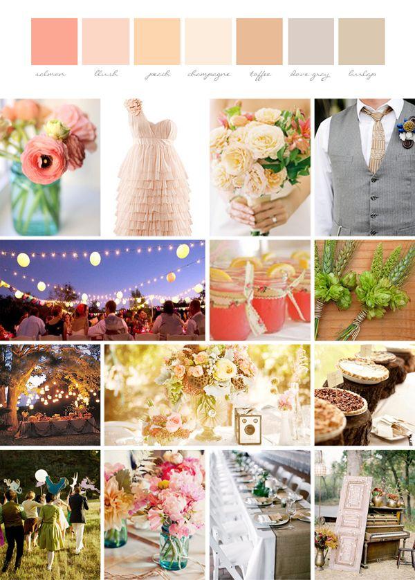 Diy whimsical and rustic wedding inspiration board for Diy wedding ideas for summer