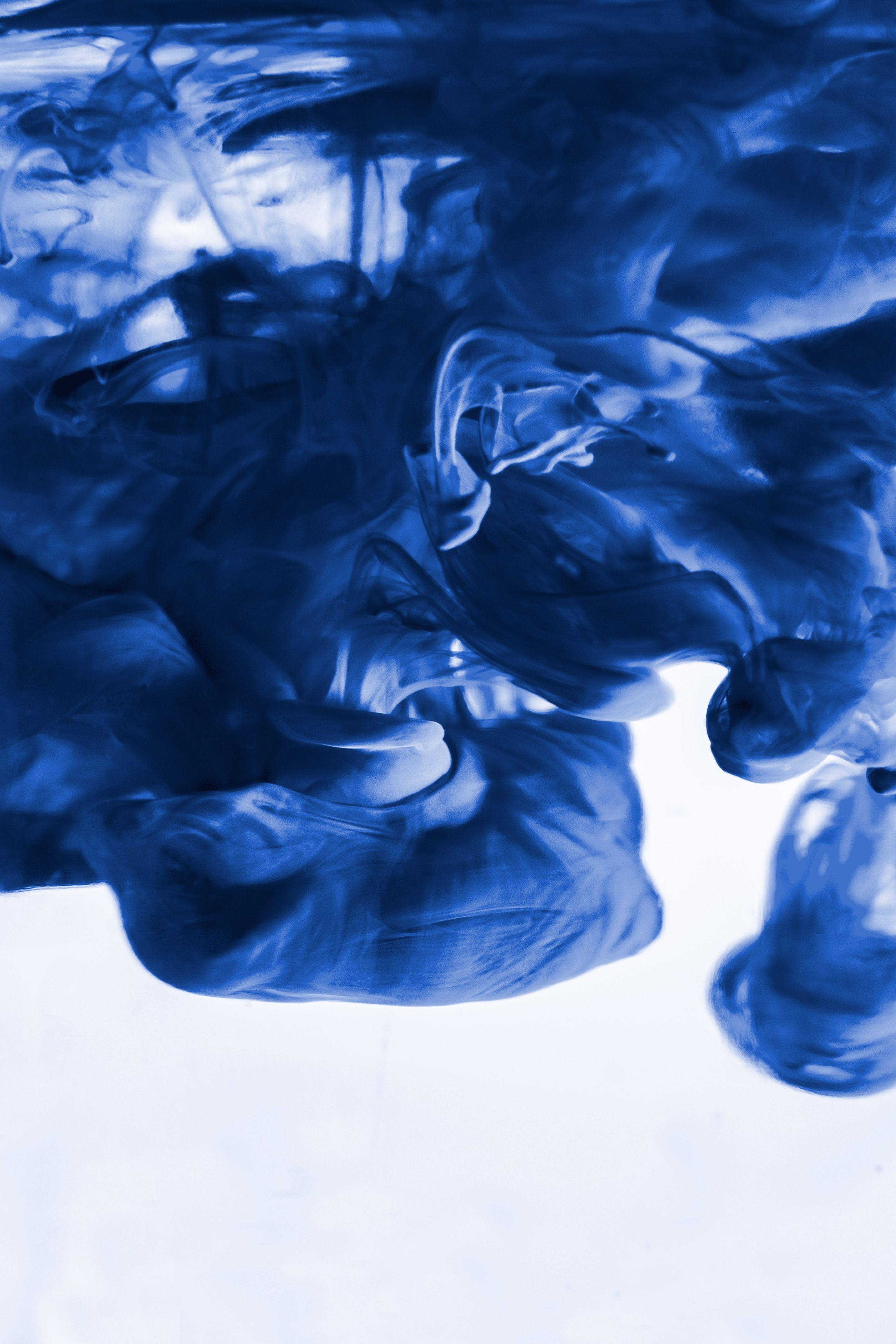 Blue Ink In Water Water Inspired Abstract Wallpapers