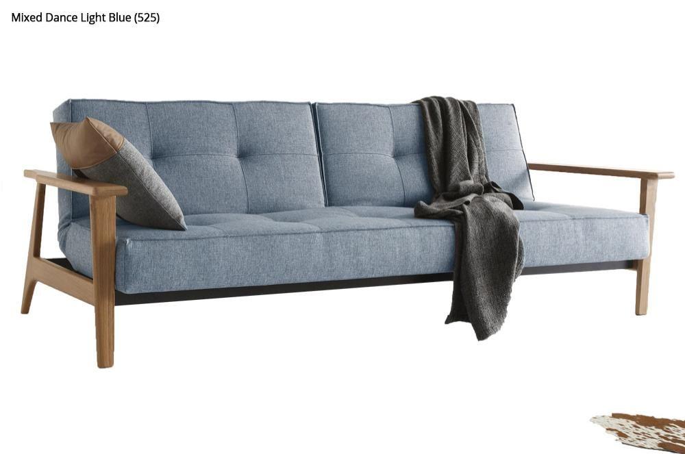 innovation sofa splitback mit holzarmlehnen wohnung. Black Bedroom Furniture Sets. Home Design Ideas