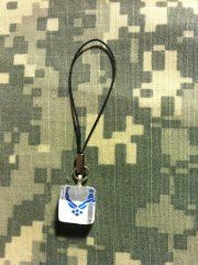 $5  Glass tile (1/2 inch) Air Force phone charm