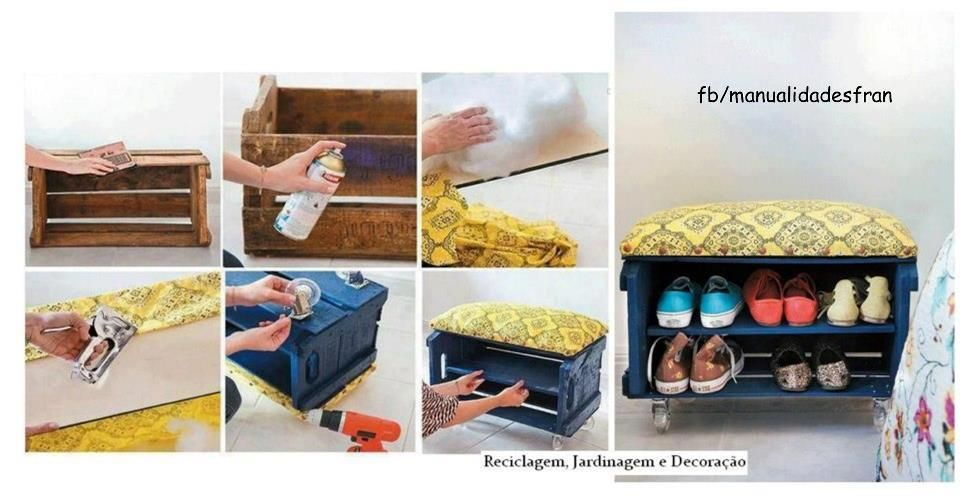 Organizador de zapatos diy pinterest crafty and craft - Organizador de zapatos ...