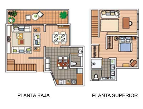 Duplex 70m2 plano apartamento pinterest planos for Decoracion casas 70m2