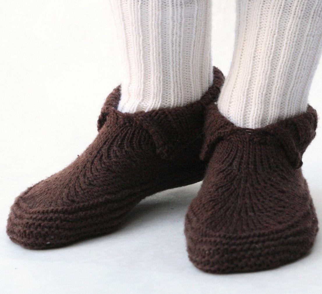 Knitting pattern for Adult Moc-a-Soc - #ad Slipper socks knitting ...