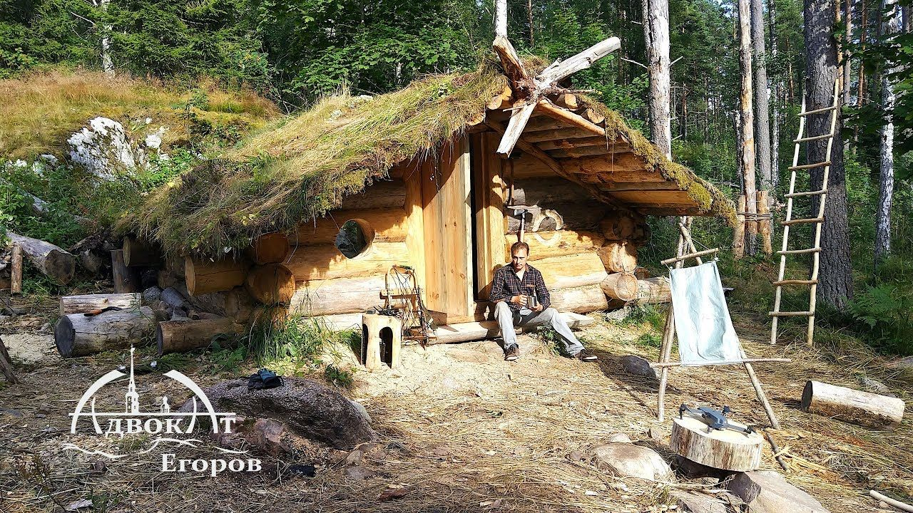 Off Grid Log Cabin Built By One Man Log Gables And A Bushcraft Mystery Outdoors Nature Sky Weather Hiking Camping Wor Bushcraft Cabin Bushcraft Camping