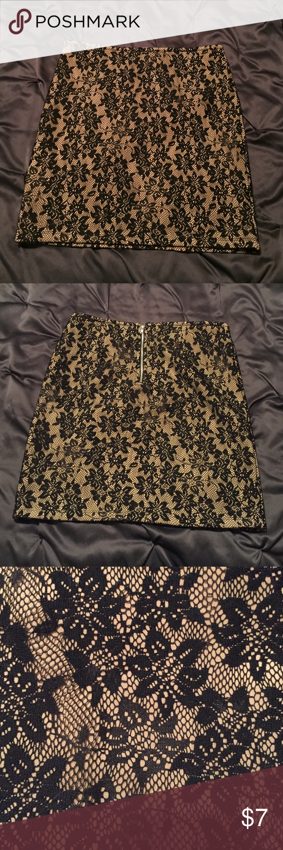 Lace overlay mini skirt. Large. 🎀 Forever 21. Mini. Large. Lace. Sexy. Perfect for holidays. Like new condition. 🎀 Forever 21 Skirts Mini