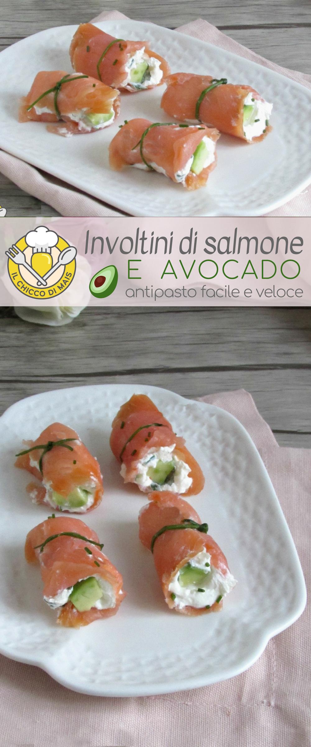 Salmon and avocado rolls