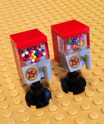 2 Lego Custom Gumball Machines Lot of 2 Vending Machines for Minifigures   eBay