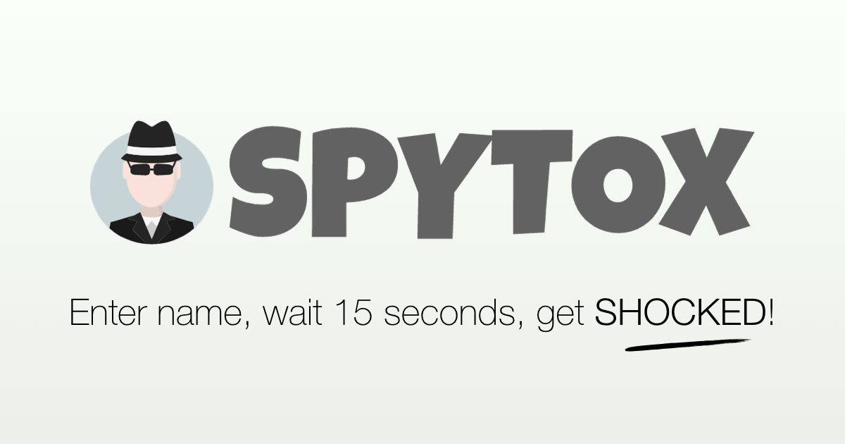 SPYTOX reverse phone lookup identifies incoming phone numbers for