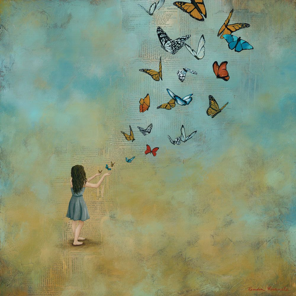 Butterfly Art Print titled With Open Hands 30x30 | Etsy