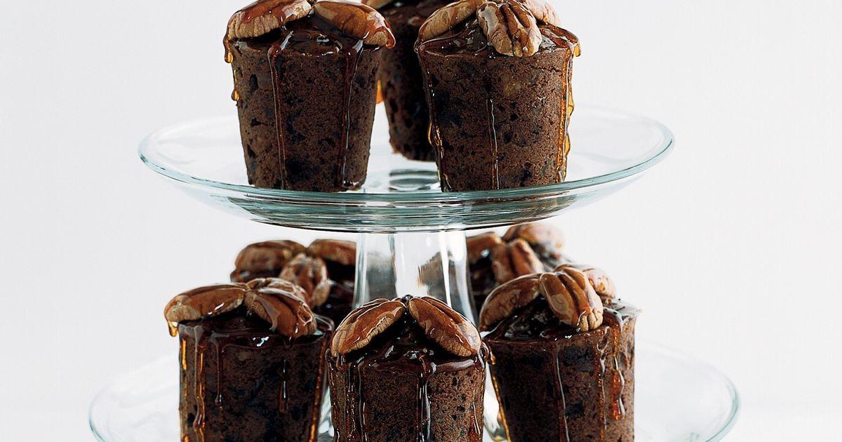 Chocolate date and nut cakes recipe dessert recipes