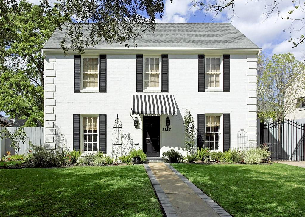 Classic Exterior White House With Black Roof And