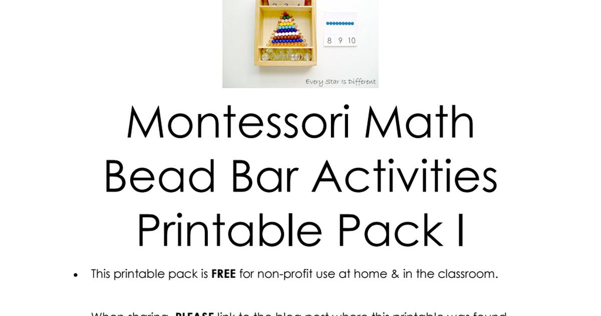 Montessori-inspired Math Bead Bar Printable Pack 1.pdf