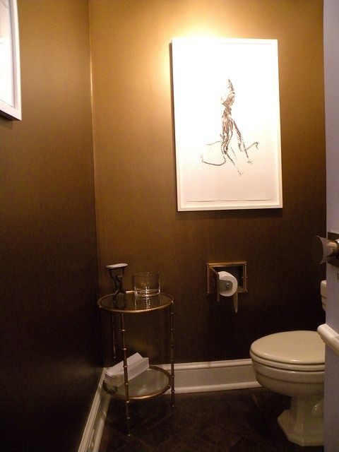 Benjamin Moore Gold Metallic Paint S Over Black Base Also T P For Our Ceiling In Chicago Powder Room