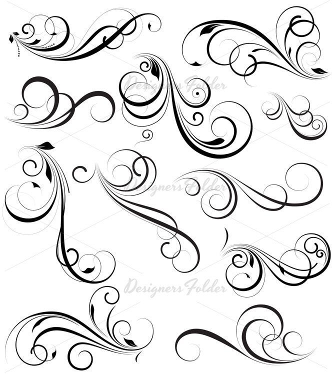 Abstract Swirl Tattoo   Swirly Designs   Celebrity ...