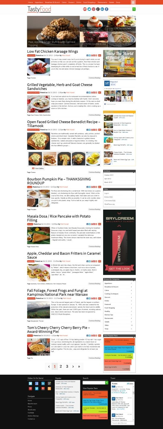 TastyFood WordPress Theme