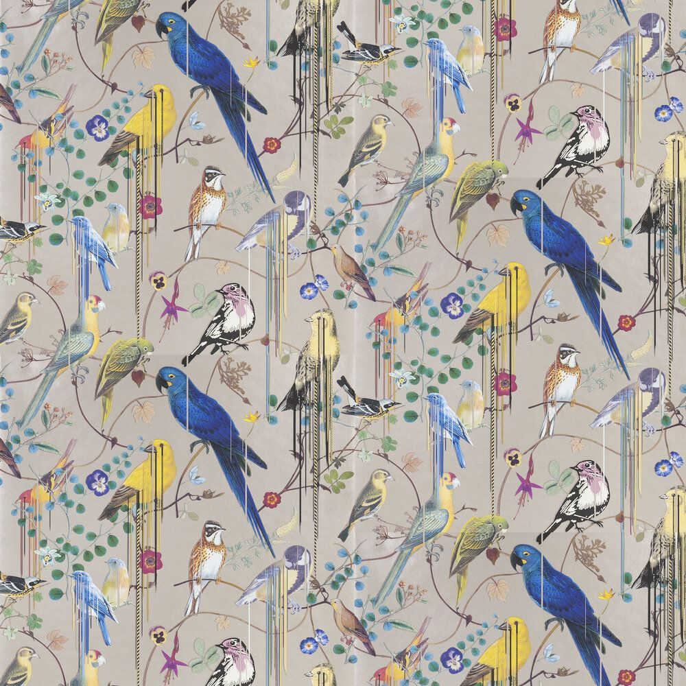 Birds Sinfonia by Christian Lacroix Copper Wallpaper