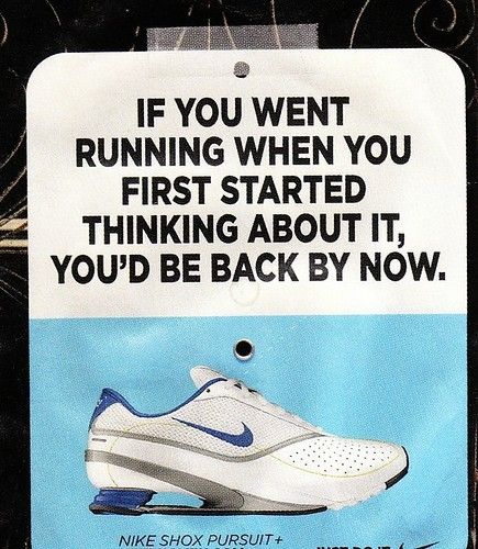 running sign shoes