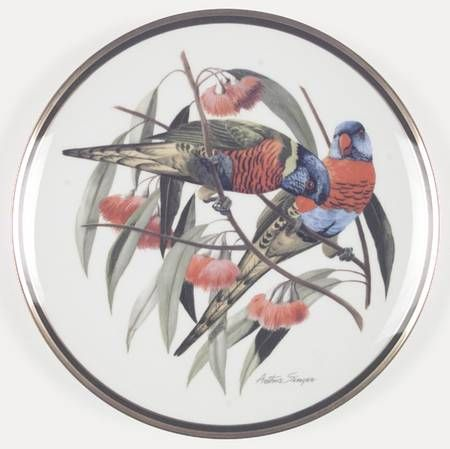 Franklin Mint Woodland Birds Of The World: Rainbow Lorikeet - Artist: Arthur Singer