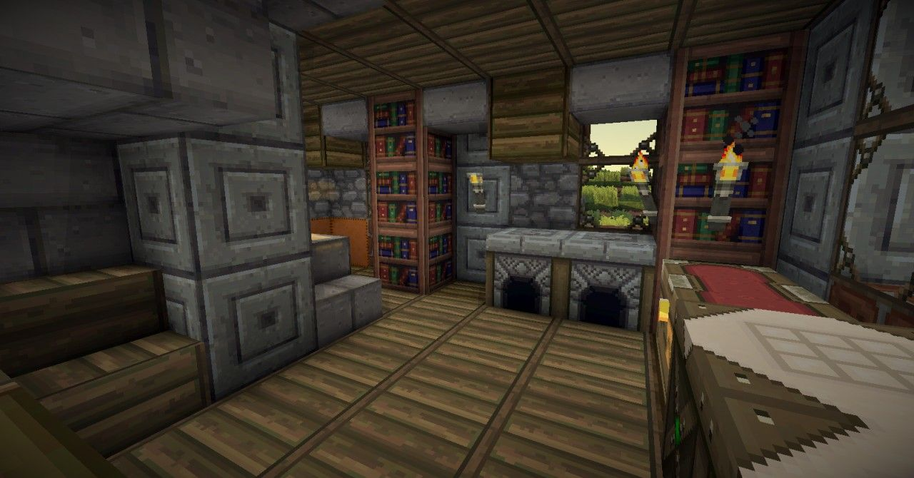 Minecraft medieval house interior inspiration ideas 53135 for Minecraft house interior living room