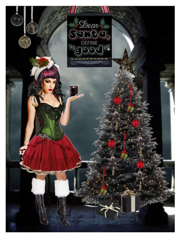 """""""Black Xmas"""" by bloodshyft ❤ liked on Polyvore featuring art"""