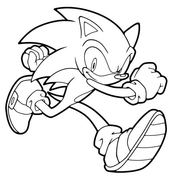 Sonic The Hedgehog Running Coloring Pages Taken