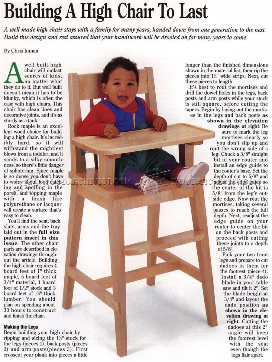 3 in one high chair plans outdoor swing chairs children s furniture woodworking project