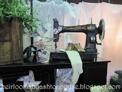 Heirlooms By Ashton House April 40sewing Machine Vignette Magnificent Sewing Machine Reviews 2012