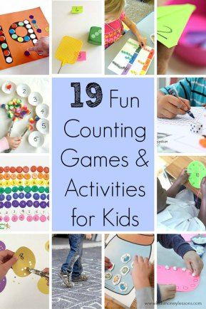 19 Fun Counting Games and Activities for Kids: To be able to learn about money, kids first need to know number recognition and how to count. But how to make it fun? Here are 19 fun counting games and activities for kids.