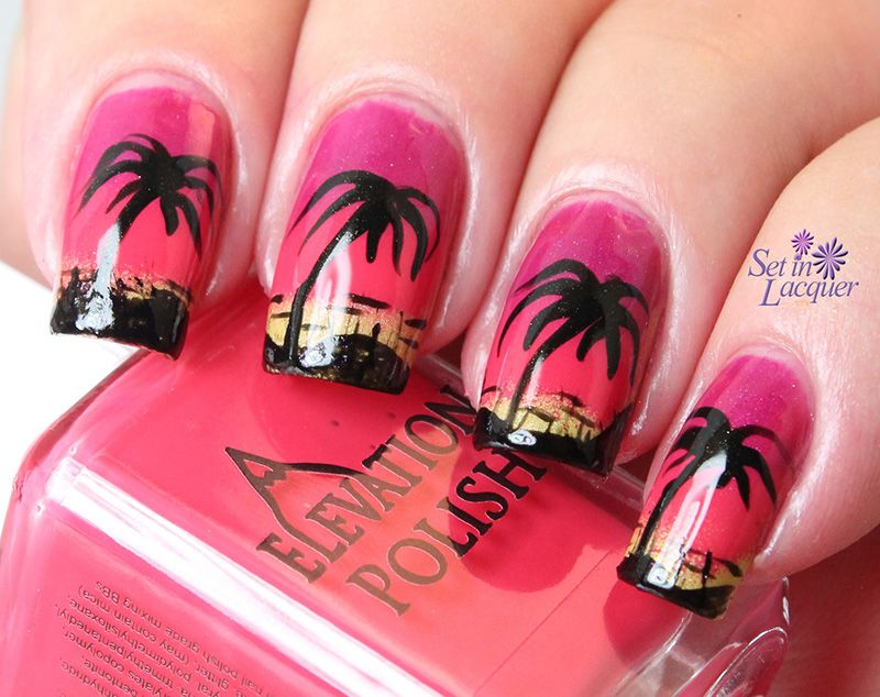 65+Most Eye Catching Beautiful Nail Art Ideas - NailInks - 65+Most Eye Catching Beautiful Nail Art Ideas Sunset Nails, Summer