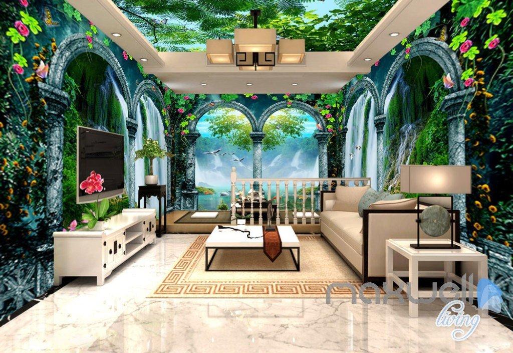 3d arch waterfalls vine entire living room bedroom
