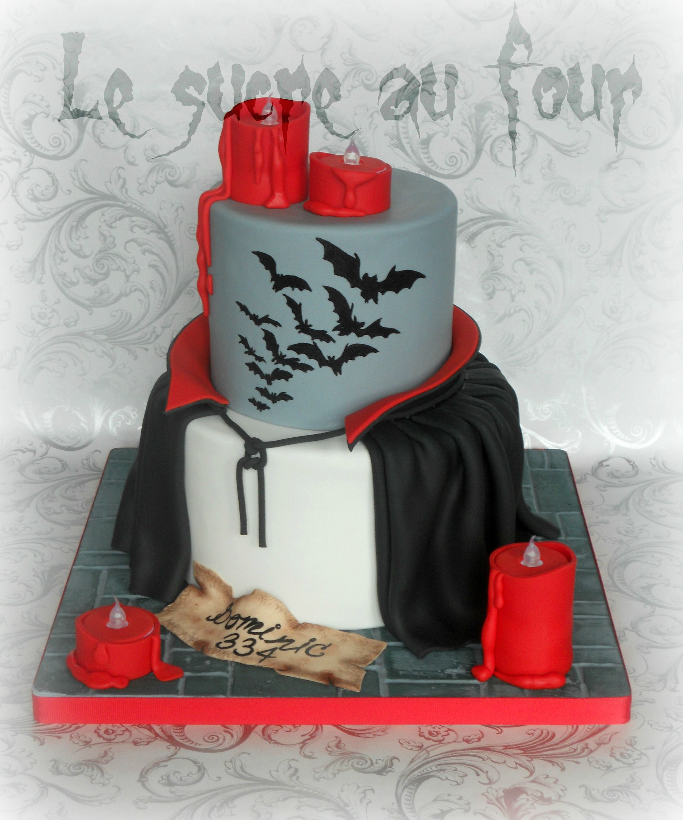 Dracula cake! Made by Le sucre au four Halloween