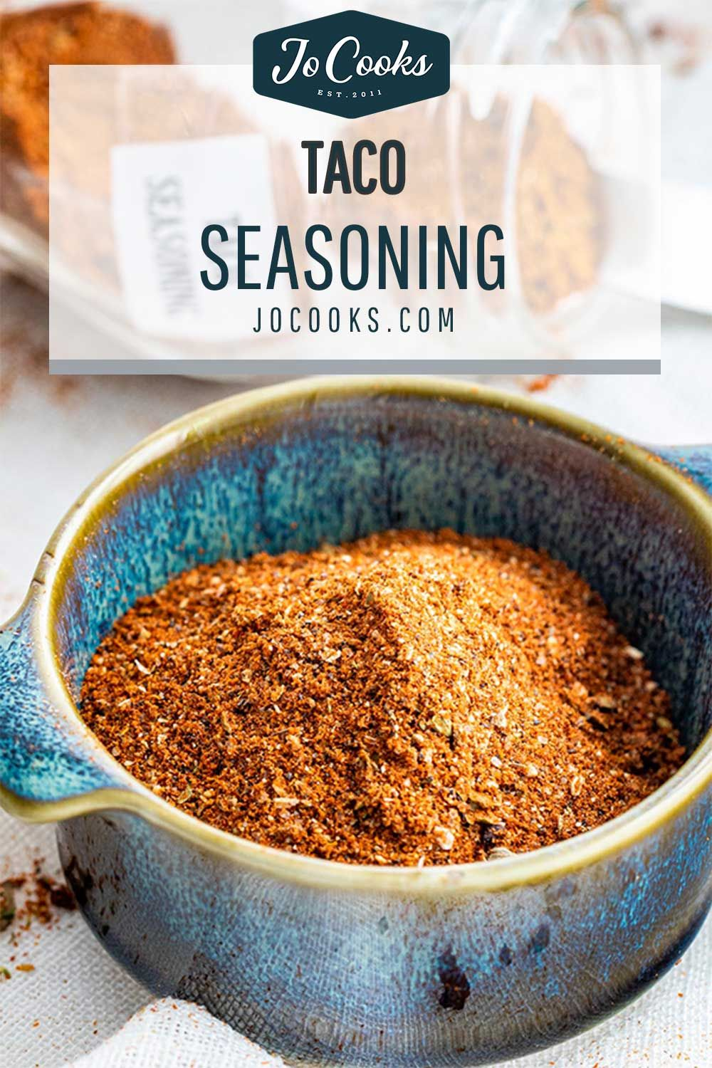 This easy Taco Seasoning mix doesn't need to be loaded