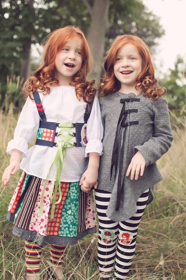 THIS IS WHAT I HOPE THE TWINS LOOK LIKE IN A FEW YEARS!!! Curly red-headed girls :).  (Danielle is going to kill me for this...)