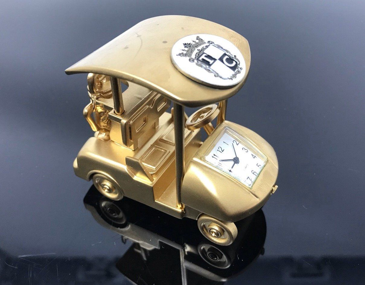 Vintage Golf Cart Quartz Clock Desk Clock Novelty Gift Working ... on silver golf cart, automatic golf cart, the first golf cart, solar powered golf cart, radio controlled golf cart, carbon fiber golf cart,