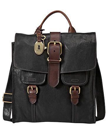 Fossil Handbag, Emory North South Flap Bag - Handbags & Accessories - Macy's