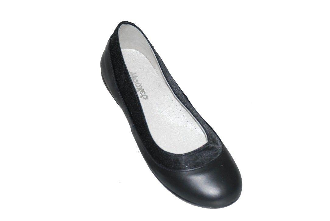 54da1bce083 #girls #shoes Μπαλαρίνα δερμάτινη Μούγερ, μαύρη με ανατομικό πέλμα.  www.mouyer.gr/store/products/collections/season2015W/itemA11071-3000-33
