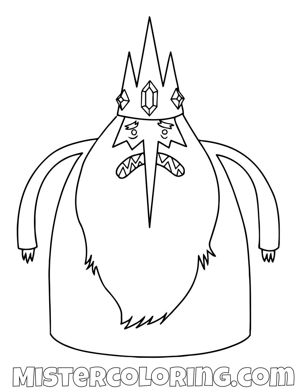 Ice King Adventure Time Coloring Page Adventure Time Coloring Pages Ice King Adventure Time Adventure Time Drawings