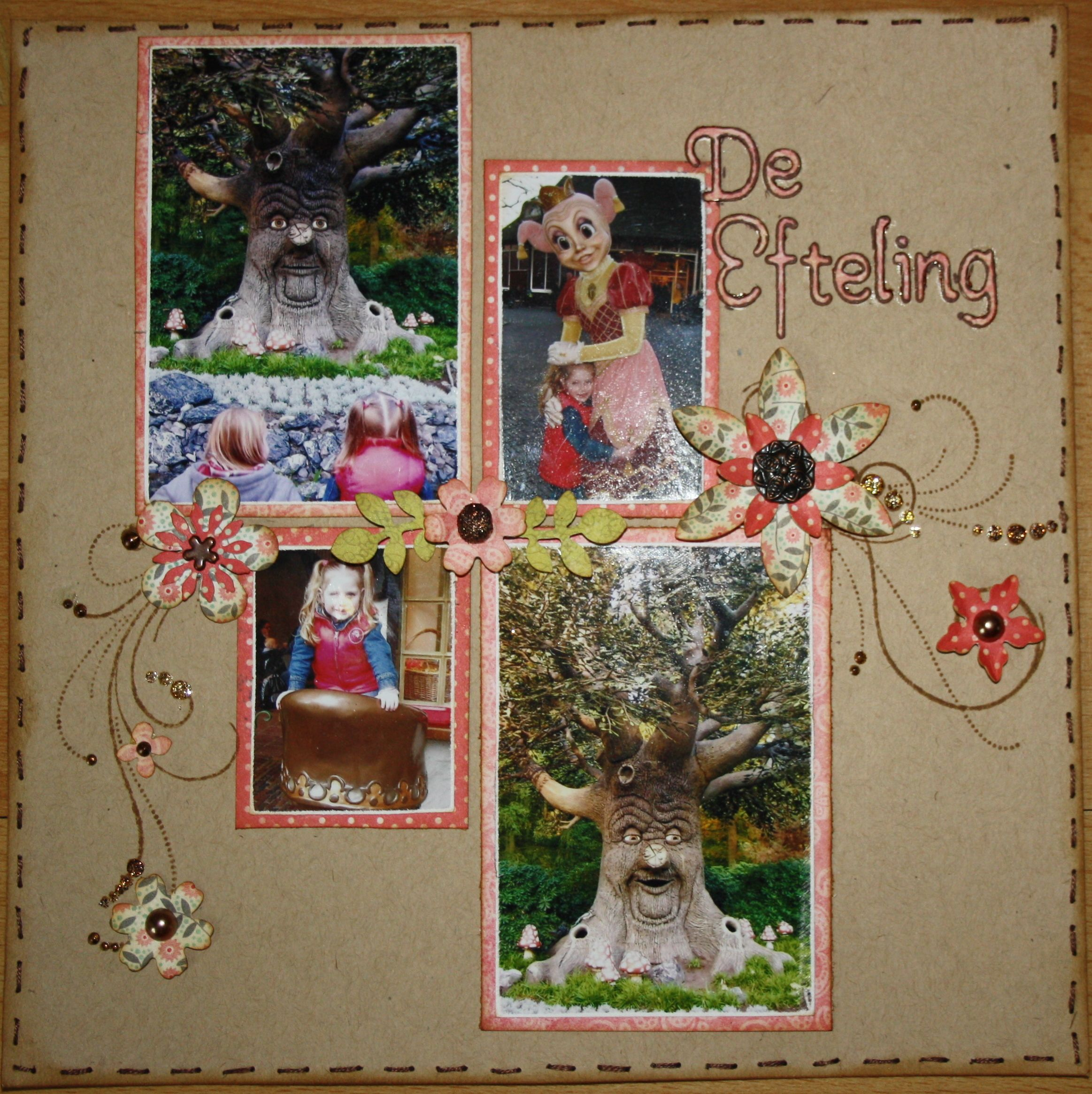 A layout with pictures from the Efteling.