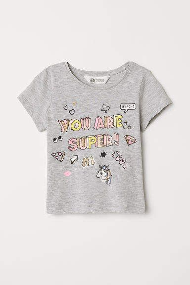 c6413f5ed Jersey Top with Printed Design | Kid Tops | Shirts for girls, Kids ...
