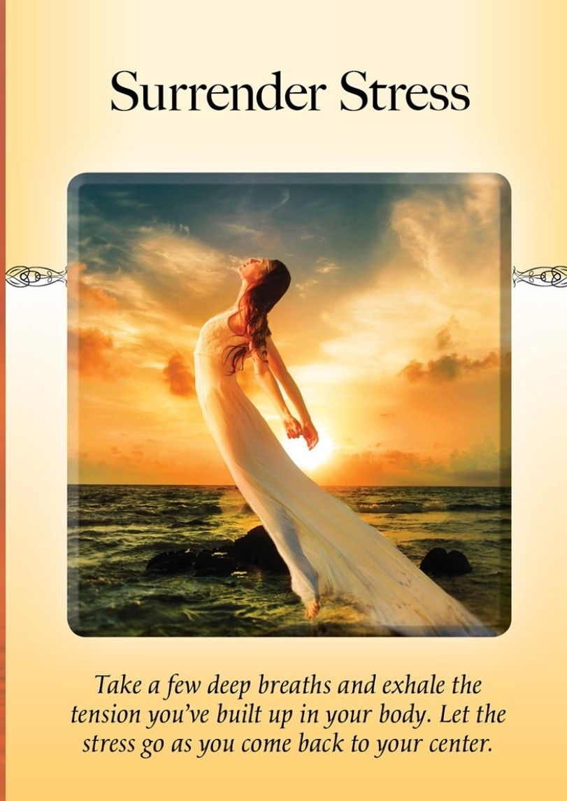 Power Of Surrender Oracle Surrender Stress Take A Few Minutes