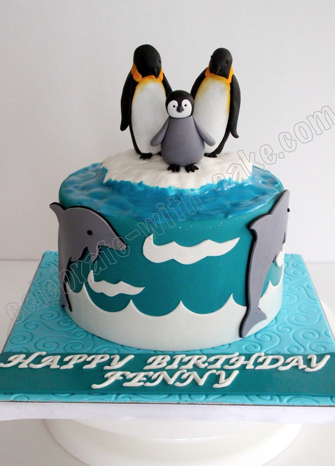 penguin cake Penguin Inspired Cakes Cake Toppers Food Items