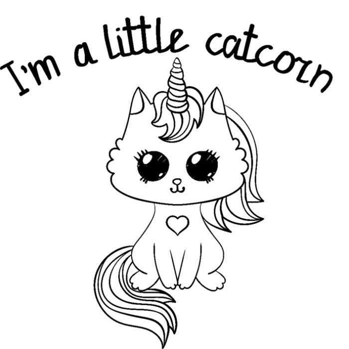 printable coloring pages baby unicorns  hello kitty