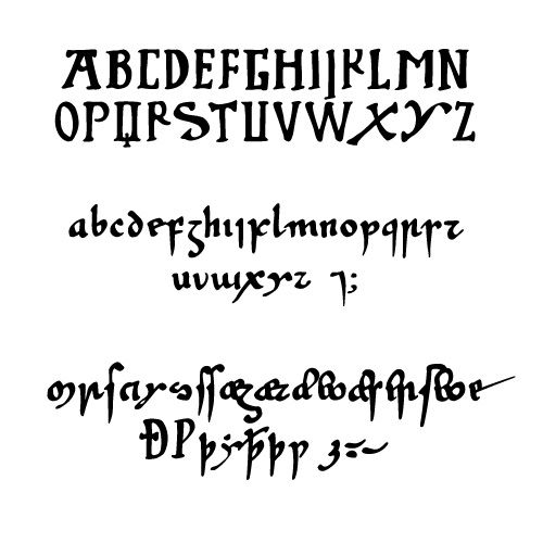 Insular Minuscule (also known as Anglo-Saxon Minuscule