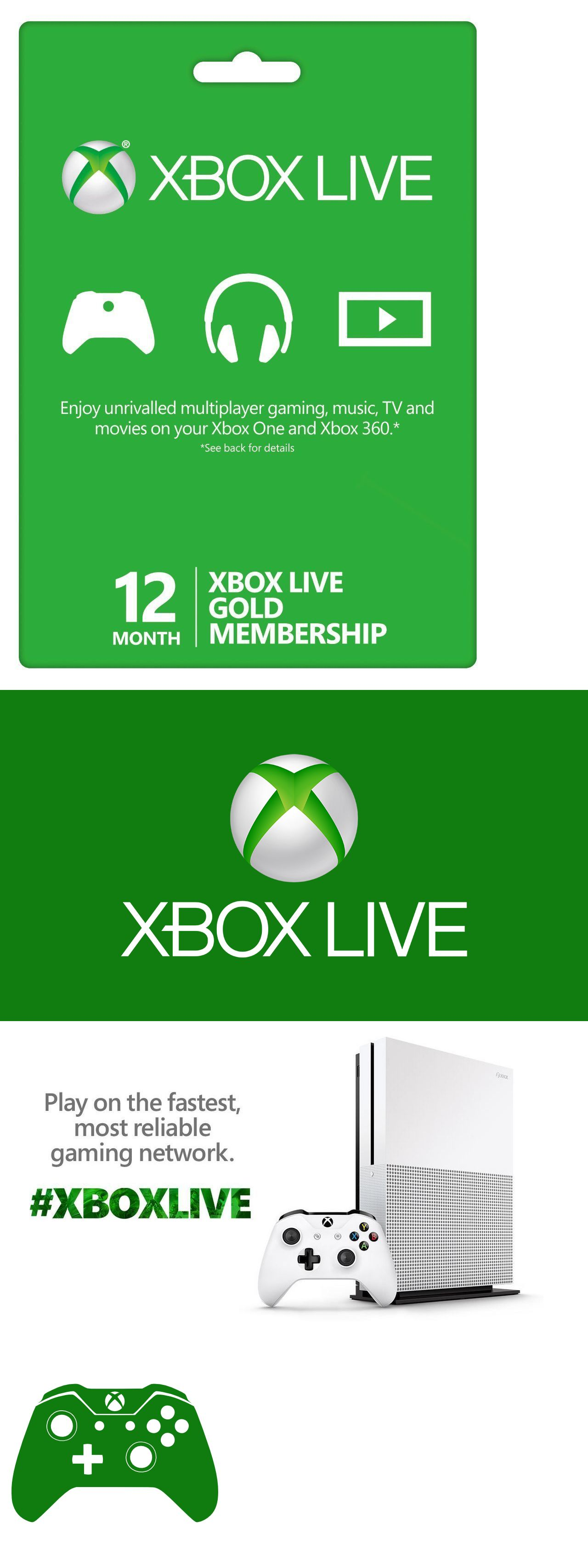 Prepaid Gaming Cards 156597 Microsoft 12 Month Xbox Live