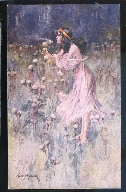 Thomas Maybank signed girl in field   gla775 by postcardcity, via Flickr