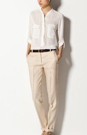 3546 Massimo Dutti Bezowe Spodnie W Kant M 4048117982 Oficjalne Archiwum Allegro Linen Slacks Massimo Dutti Pantsuit