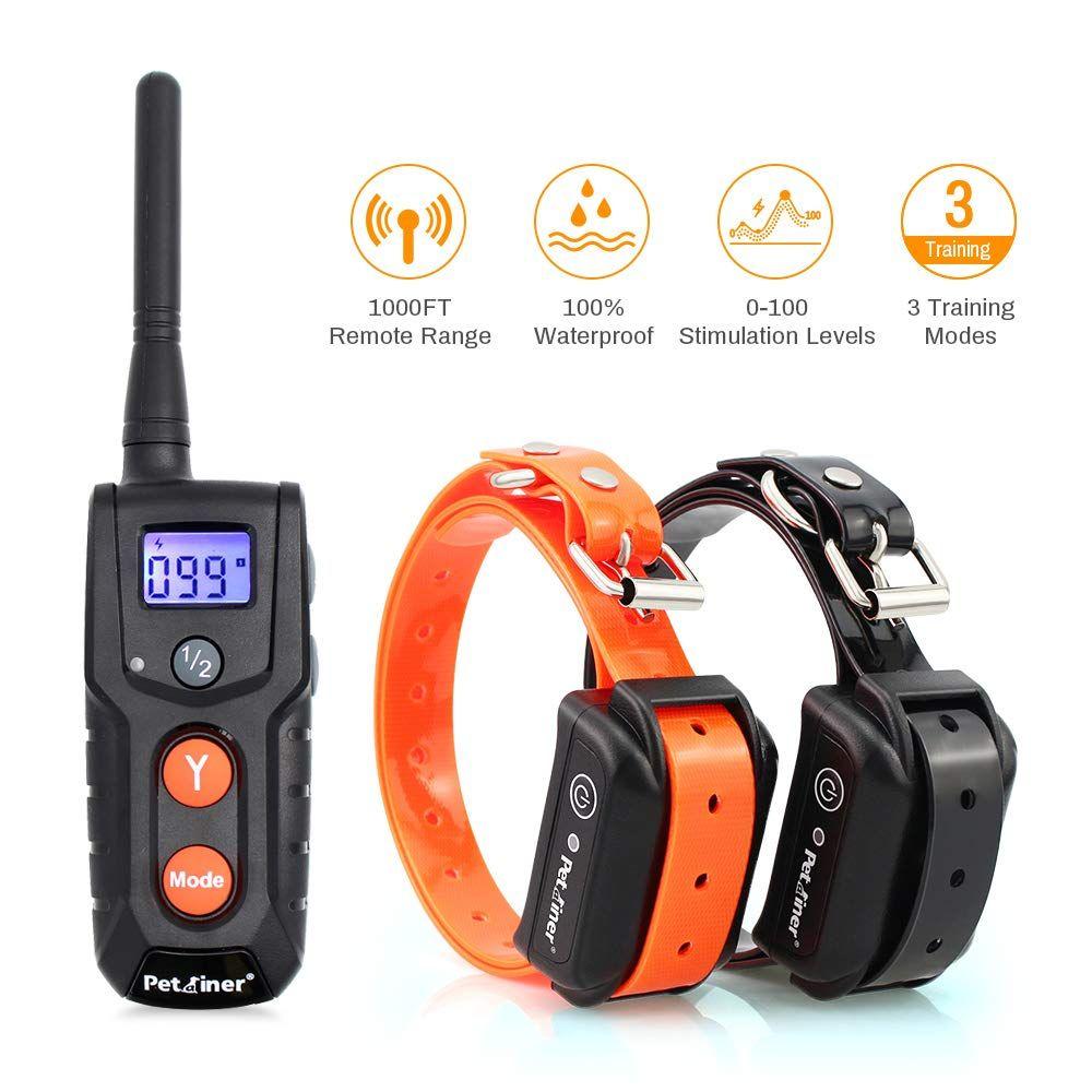 Petrainer Pet916 2 Shock Collar For 2 Dogs 100 Waterproof Electric