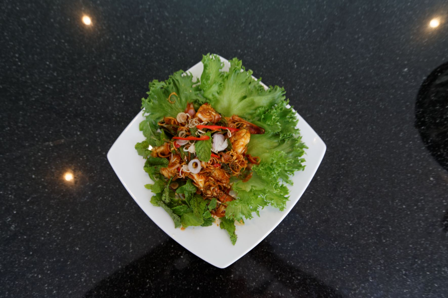 Gung with chilli paste prepared by chefs of luxury villas phuket. recipe see download area of our website http://www.luxuryvillasphuketthailand.com/ Luxury Villas Phuket Thailand