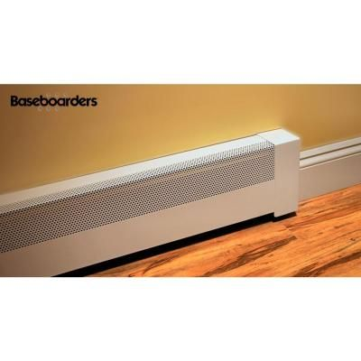 Baseboarders Basic Series 3 Ft Galvanized Steel Easy Slip On Baseboard Heater Cover In White Bc001 36 Baseboard Heater Covers Baseboard Heater Heater Cover
