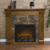 Found It At Wayfair Blake Electric Fireplace Oak Electric